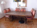 Solid Mexican Pine (Dark) Dining Table and 6 Chairs