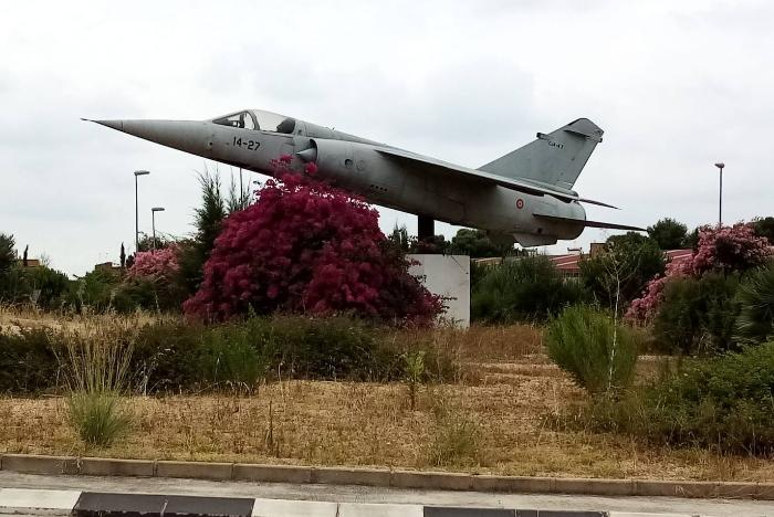 The historic Mirage F-1M aircraft will continue to preside over the roundabout at the Paterna Exhibition Centre