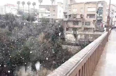 Snow and rain in Valencia | Rare phenomenon brings snow to Valencia and Alicante and plummets temperatures to 20 degrees Celsius